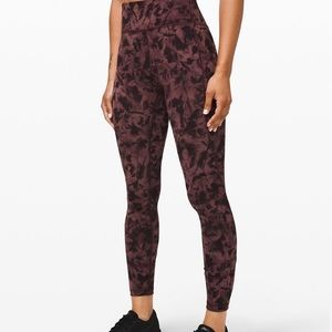 "LuluLemon In Movement Tight 25"" Everlux Size 12"